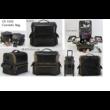 Kozmetikai táska, Smink Táska, fekete/arany színben, 33x27x20cm