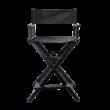 Összecsukható smink szék fekete színben