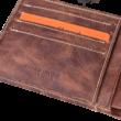 Valódi bőr férfi pénztárca díszdobozban OP-5021 MARRONE
