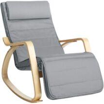Hintaszék, 5 fokozatú állítható lábtartó, relaxációs szék, 150 kg-ig terhelhető