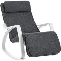 Hintaszék nyírfából, relaxációs szék, 5 Fokban Állítható Lábtartó