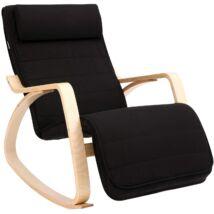 Fotel hintaszék állítható lábtartóval Max. Terhelés: 150 kg fekete