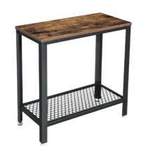 Rusztikus oldalasztal, éjjeliszekrény hálós polccal 60 x 30 x 60 cm