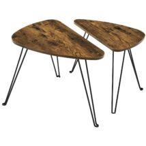 2 oldalsó asztal, kis dohányzóasztal