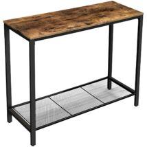Rusztikus stílusú konzolasztal 100 x 35 x 80 cm, barna