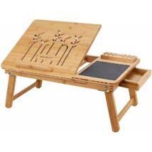 Bambusz összehajtható laptop asztal 55 x 23 x 35 cm