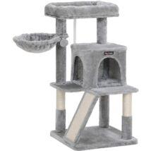 Macska kaparóoszlop kaparólappal 96 cm szürke