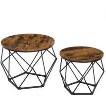 VASAGLE dohányzóasztalok, 2 oldalsó asztal, robusztus acél váz