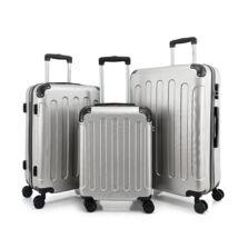 BONTOUR VERTICAL 4 Kerekes Bőrönd Szett Ezüst