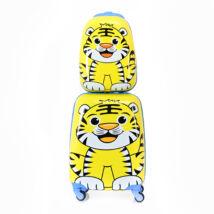 BONTOUR Gurulós Gyerek Bőrönd Szett Tigris Mintával