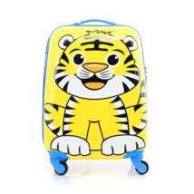 BONTOUR Gurulós Gyerek Bőrönd Tigris Mintával
