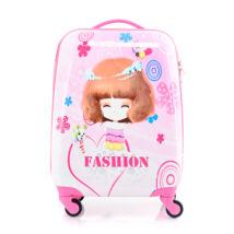 BONTOUR Gurulós Gyerek Bőrönd kislány mintával