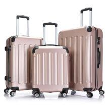 Bontour Basic kemény bőrönd szett 195-3# Rózsarany