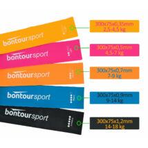Bontour Latex Mini Band, Láberősítő gumiszalag, Fitness Szalag Szett (5db)