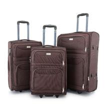 BONTOUR 3 db-os Basic bőrönd szett 2 kerekű Barna