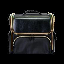 Sminkes Kozmetikai táska / műkörmös táska, fekete/arany színben, 33x27x20cm