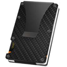 Minimalista pénztárca szénszálas RFID blokkoló rendszerrel (Legfeljebb 12 kártya)