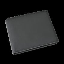 Valódi bőr férfi pénztárca díszdobozban OP-5021 NERO