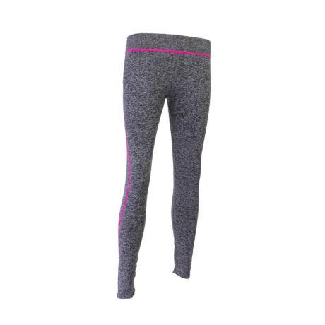 Női legging Jógához, Fonalmosott Szürke( Szürke-Pink, M/L méret)