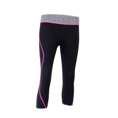 Női Térdnadrág Kardioedzéshez, Fitneszhez(Fekete/Pink, M/L méret)
