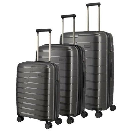 TRAVELITE Air Base - Bőrönd Szett Antracit 4 Kerekű 3 Részes