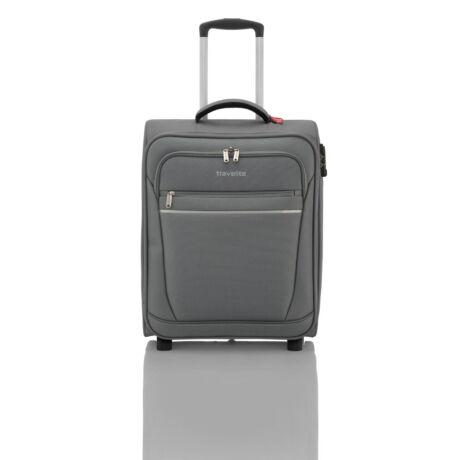 Travelite 2 Kerekű Kabin Méret Bőrönd 52x39x20 cm Szürke