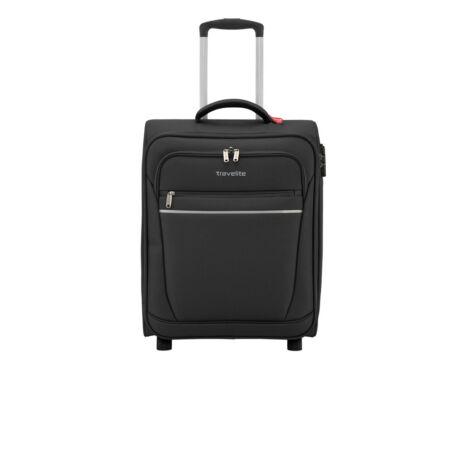 Travelite 2 Kerekű Kabin Méret Bőrönd 52x39x20 cm Fekete