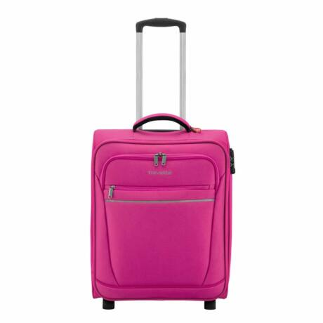 Travelite 2 Kerekű Kabin Méret Bőrönd 52x39x20 cm Málna színű