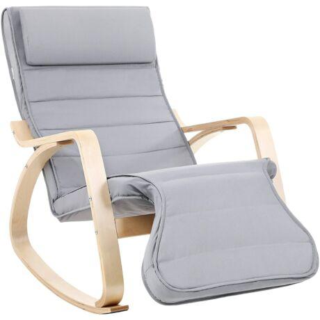 Hintaszék, relaxációs szék, 5 irányban állítható lábtartó, terhelhetőség 150 kg-ig