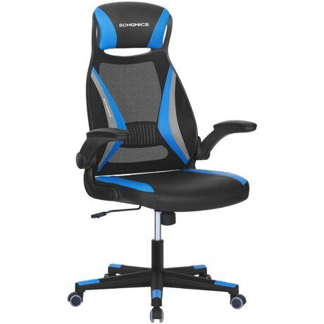 Irodai forgatható hálós szék, állítható magasságú, szabadon dönthető háttámlával