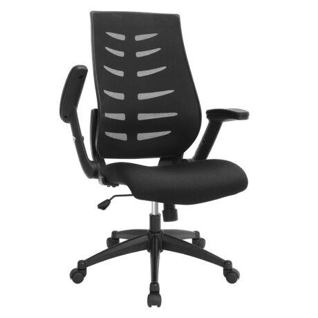 Songmics Irodai szék fekete OBN54BK