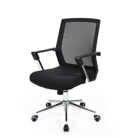 SONGMICS hálós irodai szék , irodai forgószék, állítható magasságú, fekete OBN83B