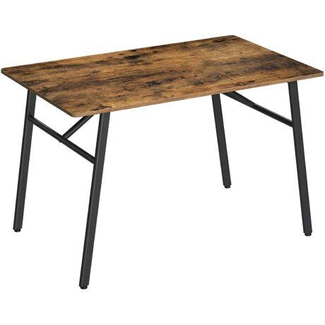 4 személyes étkezőasztal, 120 x 75 x 75 cm, ebédlőhöz, konyhához