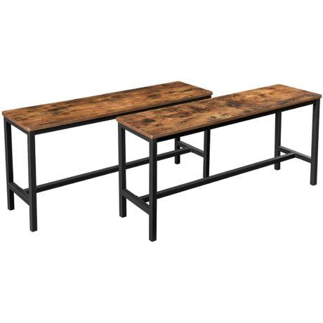 Padok étkezőasztalhoz, 2 db-os szett, 108 x 33,5 x 50cm