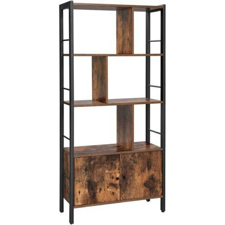 4 nyitott polcszintű könyvespolc, tágas nappali szekrény 74 x 30 x 154,5 cm