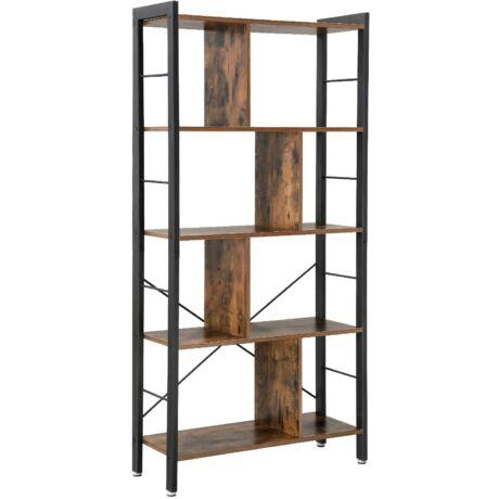 Könyvespolc 154,5 x 74 x 30cm rusztikus barna
