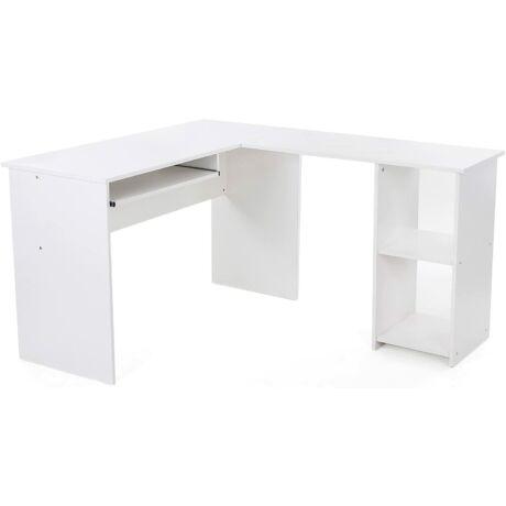 Nagyméretű számítógépes sarokasztal, asztali számítógép, 140 x 120 x 75 cm