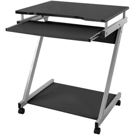 Z-alakú íróasztal, Mobil számítógépasztal, 60 x 48 x 73 cm