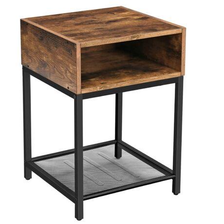 Éjjeliszekrény, oldalasztal, nyitott rekesszel és hálós polccal