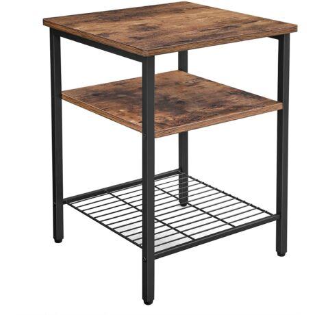Éjjeliszekrény, oldalsó asztal, 3 polcos asztal