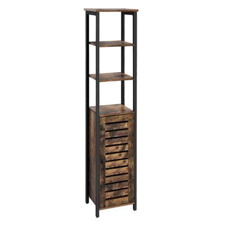 Rusztikus barna tárolószekrény 37 x 30 x 167cm