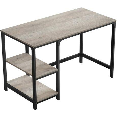 Számítógépasztal Szürke-Fekete 120 x 60 x 75 cm