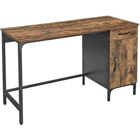 Rusztikus számítógépasztal 130 x 55 x 75 cm