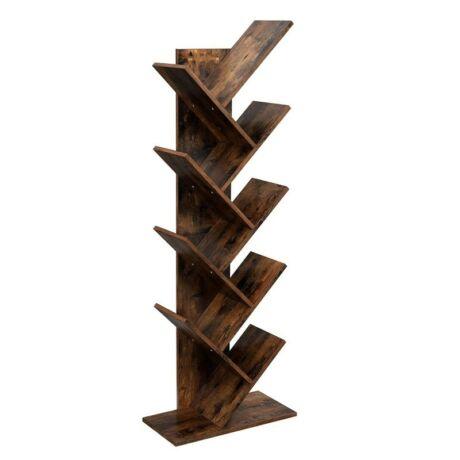 Fa alakú könyvespolc 8 rekesszel 50 x 25 x 141,5 cm