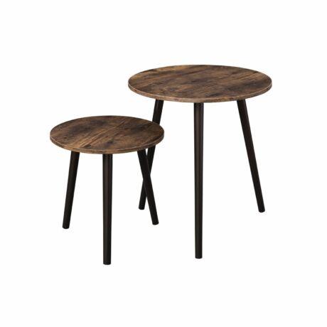 2 kerek oldalasztal ipari kivitelben