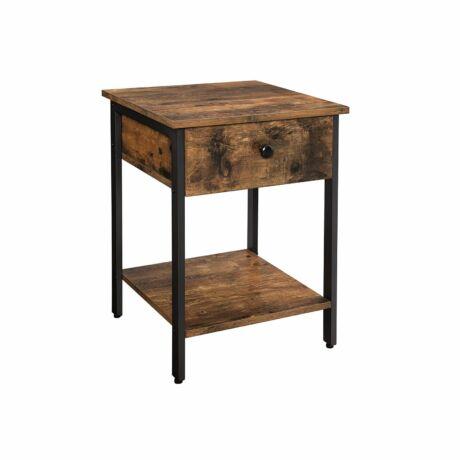 Fiókos oldalasztal,  Éjjeliszekrény 40x40x55 cm