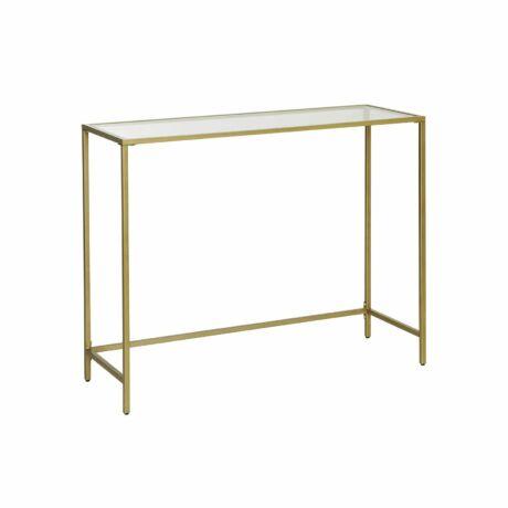 Modern konzolasztal 100 x 35 x 80 cm, arany