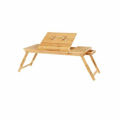 Állítható kis bambusz asztal 72 x (21-29) x 35 cm