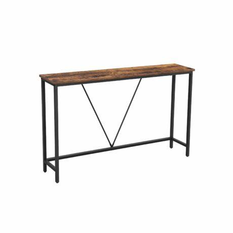 Vintage Konzolasztal 120 x 23 x 74 cm, barna-fekete