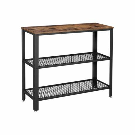 Modern stílusú konzolasztal 2 polccal 101,5 x 35 x 80 cm